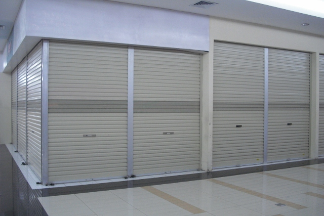 Rolling door perforated